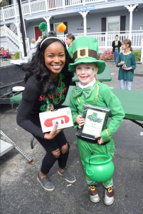 Picture showing the winner of the 2019 Leprechaun Contest